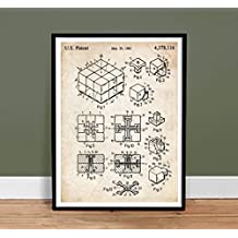 RUBIK'S CUBE US PATENT INVENTION PRINT 18X24 POSTER VINTAGE PUZZLE GIFT 1983 UNFRAMED