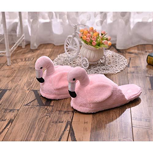 Pantoufles An Parfaits Ipotch Pour Cadeaux Forme Noël D'intérieur Flamingo Nouvel Chaussures Coton Rose4 Anniversaire Douces Od8xqwdF