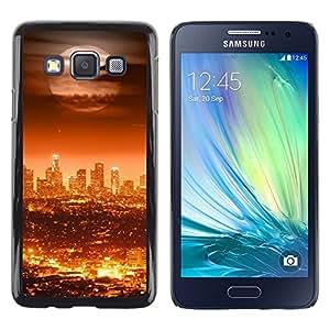 LECELL -- Funda protectora / Cubierta / Piel For Samsung Galaxy A3 SM-A300 -- Full Moon Modern City --