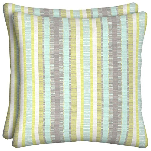 Phyllis Stripe Outdoor Throw Pillow  2 Pack