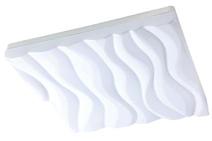 Plafoniera Da Esterno Quadrata : Grande plafoniera esterno design arena quadrato bianco amazon