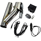 "3"" Electric Exhaust Catback Downpipe Cutout E-Cut Out Valve System Controller Remote Kit"