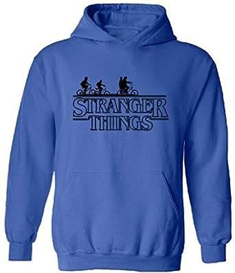 icustomworld Stranger Things Ride Bike Hoodie Netflix Series Hooded Sweatshirt S Blue