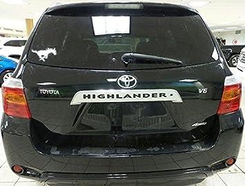 Black BDTrims Rear Door Plastic Letters Inserts fits Highlander Models
