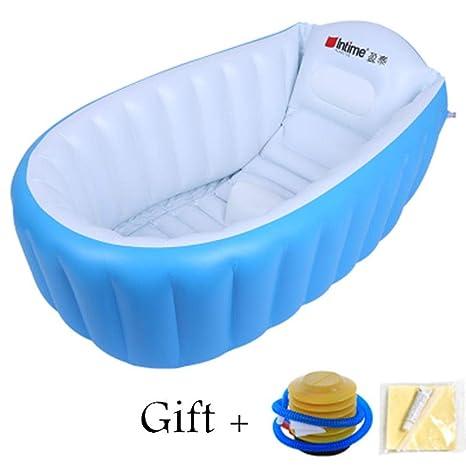 Treslin Bañera portátil Bañera Inflable Bañera para bebé ...