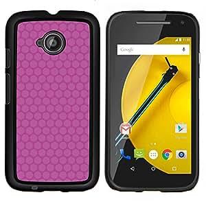 Stuss Case / Funda Carcasa protectora - Modelo rosado minimalista - Motorola Moto E ( 2nd Generation )