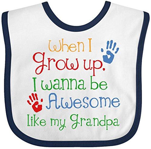 Grandpa Bib - Inktastic - Awesome Like My Grandpa Baby Bib White/Navy 1981f