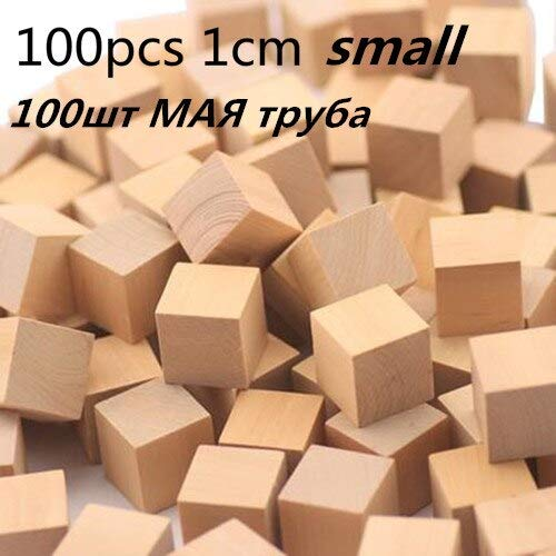 Viet SF 最高品質 - ブロック - 木製 キューブゲーム 100ピース 1-2cm DIY ブロックセット おもちゃ 木製 教育玩具 赤ちゃん 子供 - 1個 - 子供用 木製ブロック Viet SF4A097096  100cm 1cm B07SJN885F