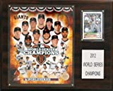 MLB San Francisco Giants 2012 World Series Champions 12 x 15-Inch Plaque