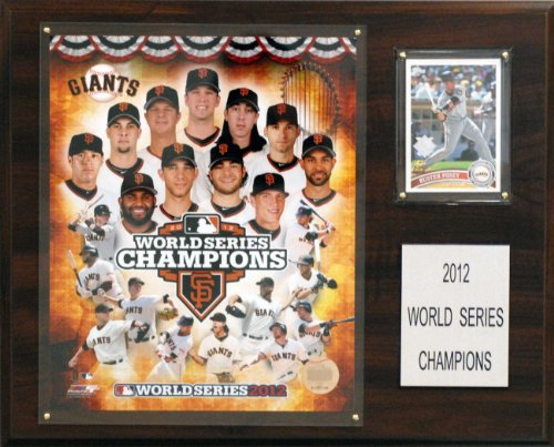 MLB San Francisco Giants 2012 World Series Champions 12 x 15-Inch Plaque