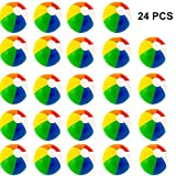 Beach Balls (24 Pack) - Inflatable Rainbow Beach Balls Beach Pool Party Toys Party Favors