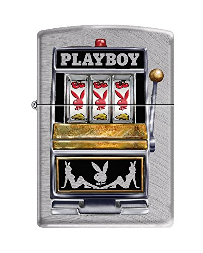 Zippo Playboy Slot Machine Pocket Lighter, Chrome Arch