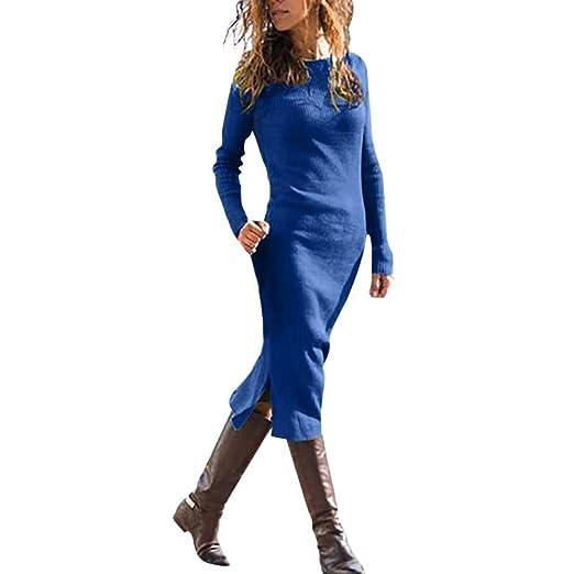 Amazon Com Kaifongfu Women Casual Winter Solid Color Long Sleeve O
