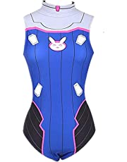 My Sky DVa Cosplay Swimsuit Backless Hana Song Anime Costume One Piece Bunny Bathing Suits