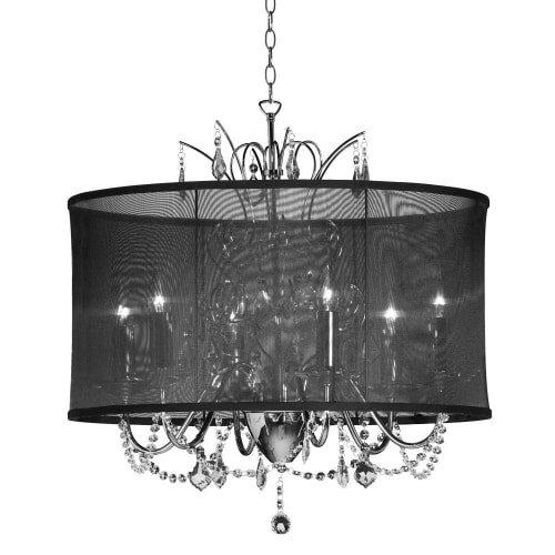 Price comparison product image Dainolite Lighting VNA-20-5-115 4 Light Crystal Chandelier,  Polished Chrome