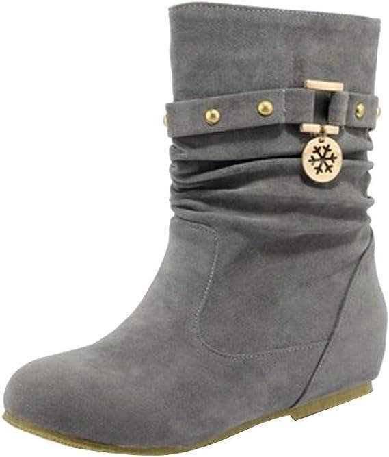 Bottines Courts Fourrees Chaude Bottines De Chaussures Mode Plates Hiver Boots Fourrées Bottes Manadlian avec Neige Doublure Sélection Femme 6IbvYfg7ym