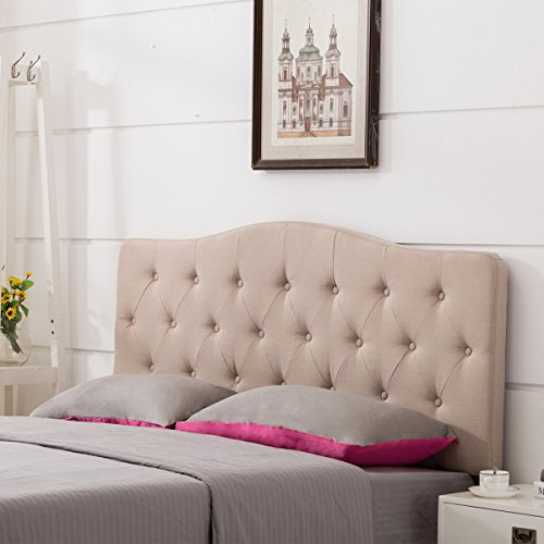 dboard Button-Tufted Adjustable Headboards Queen Size (Arch Nail Button Headboard)