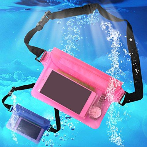 Hzjundasi 2x Wasserdicht Unterwasser Fall Tasche Mobiltelefon Schutz Sport Beutel Geld Taille Gürtel Tasche Schwarz
