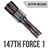 Outstanding Features:  *SUPER BRIGHT LED ------ Max 1000 lumens long distance light beam  *5 MODES MULTI-FUNCTION ----- Low, Medium, High, Strobe/Tactical Flash, SOS Flash  *PORTABLE POWER BANK ----- Charge your iPhone, iPad or any devices wo...