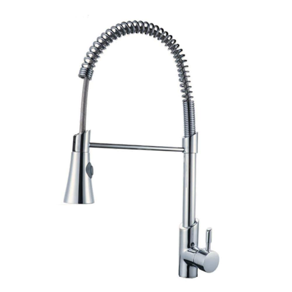 Large Kitchen Pull Faucet Home Multi-function Kitchen Dish Hot And Cold Faucet redary Pull Spring Faucet,XL