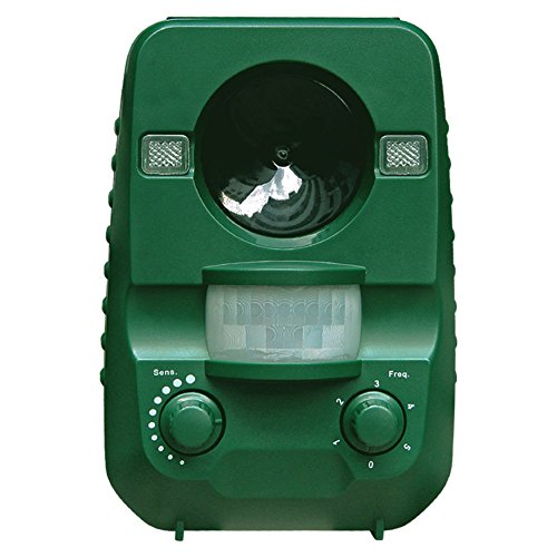 Scare Cat (Ultrasonic Animal Cat Repellent, Solar Powered & Battery Operated Waterproof Cat Repeller, Dog Repellent, Raccoon Repellent, Squirrel Repellent - Motion Activated [UPGRADED)