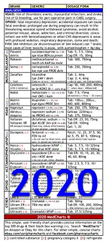Medcharts - Top 200 Drugs Review (Laminated) (Best Mpje Study Guide)