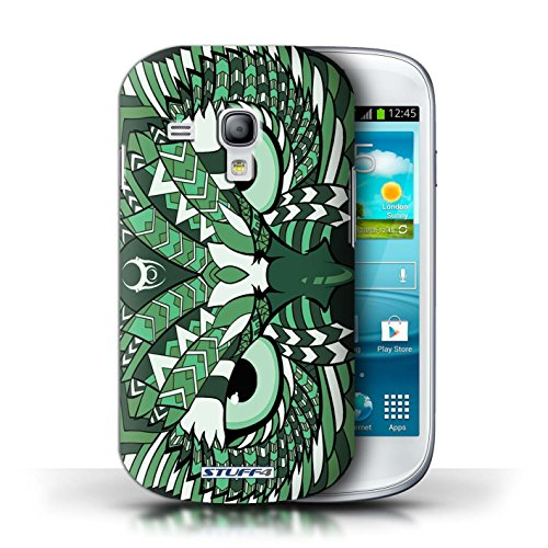 Etui / Coque pour Samsung Galaxy S3 Mini / Hibou-Vert conception / Collection de Motif Animaux Aztec