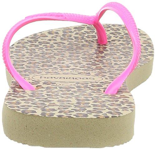 Havaianas Tongs Femme Slim Animals Rose (Shocking Pink 5538)