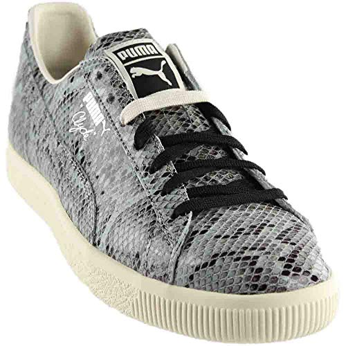 (PUMA Men's Clyde Snake Silver Athletic Shoe)