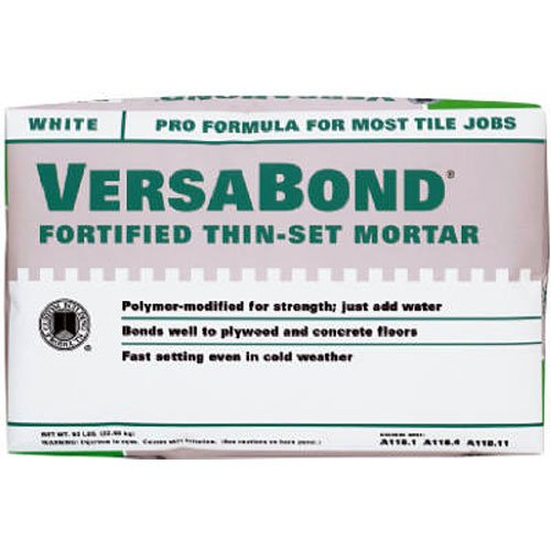 Custom Building Products VersaBond Flex Fortified Thin-Set Mortar #MTWS50WHT