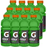 Gatorade Fierce, Green Apple, 20 Ounce Bottles (Pack of 12)
