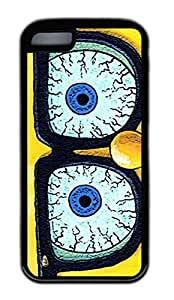 iphone 5C case,custom iphone 5C case,TPU Material,Drop Protection,Shock Absorbent,Customize your own cell phone case pattern,black case,Spongebob squarepants glasses