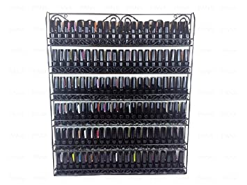 Pleasing Pana Black Nail Polish Display Organizer Metal Wall Mounted Rack Fit Up To 100 Nail Polish Bottles For Interior Design Ideas Tzicisoteloinfo