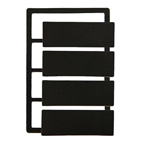 KIUKIU® Landing Side for Phone holder, Smart phone mount, iPad mounting system, the easiest mounting sytem, not Magnet, not Sticky,not Plastic.not velcro, GPS holder, (Black)