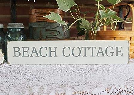 CELYCASY Beach Cottage - Cartel de Madera Pintado a Mano con ...