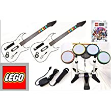 Nintendo Wii U and Wii LEGO ROCK BAND Game Set with 2 Wireless Guitars and Wireless Drum set bundle