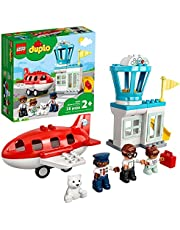LEGO DUPLO Town Airplane & Airport 10961 Building Toy; Imaginative Playset for Kids; Great, Fun Gift for Toddlers; New 2021 (28 Pieces)
