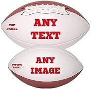 Personalized Custom Photo Regulation Football - Any Image - Any Text - Any Logo