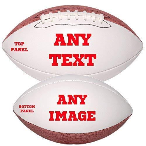 Personalized Custom Photo Regulation Football - Any Image - Any Text - Any -