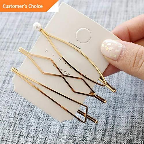 (Werrox Fashion Womens Pearl Hair Clip Snap Barrette Stick Hairpin Hair Accessories Gift | Model HRPN - 2808 |)