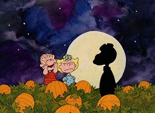 Charlie Brown Halloween Linus & Sally The Great Pumpkin Iron On Transfer for T-Shirts & Other Light Color Fabrics #12]()