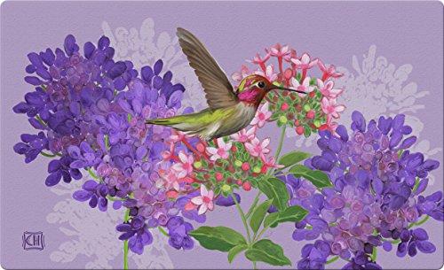 Floor Mat Hummingbird - Toland Home Garden Hummingbird and Flowers 18 x 30 Inch Decorative Floral Floor Mat Bird Flower Doormat