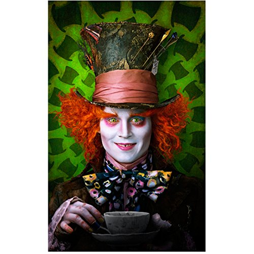 Alice Through the Looking Glass 8 inch x 10 inch Photo Johnny Depp as Mad Hatter Narrow Portrait Shot -