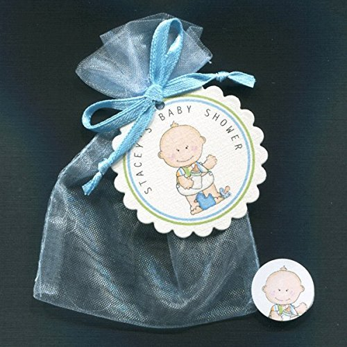 Personalized Baby Shower Favor Candy Bag Sets, Baby Boy with