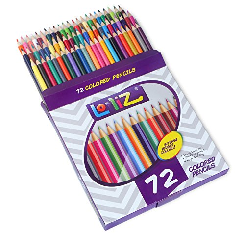 LolliZ® 72 Colored Pencils Set, with 72