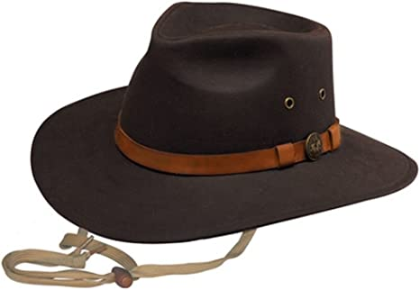 Oilskin hat Stock Style slouch Hat Medium or Large FREE POSTAGE