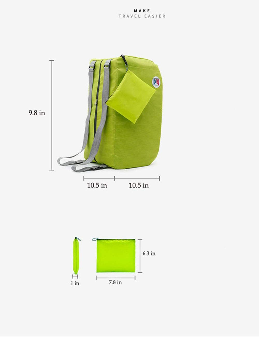Green 8000MC Outdoor Indoor Sports Fitness Luggage Yoga Backpack Short-distance Travel Foldable Backpack Women Outdoor Riding Mountaineering Backpack Luggage Backpack Luggage Bag