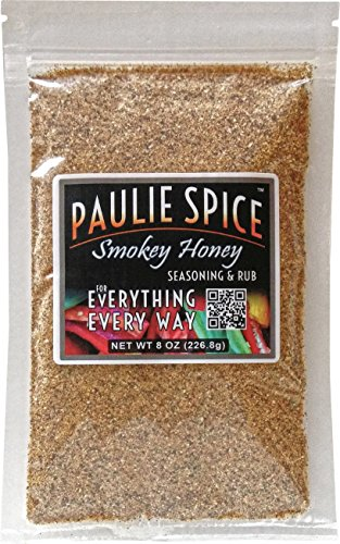 Paulie Spice : Sweet Smokey Honey BBQ Seasoning and Rub For: Steak, Ribs, Meat, Pork, Chicken, Wings, Salmon, Beef, Fish, Seafood, Grill, Barbecue, Smoked, Dry Rubs, Seasonings, Spices, Hickory, 8 ()