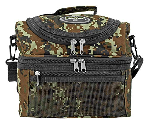 (EastWest USA Tactical Insulated Lunch Box with Shoulder Strap Green Digital Camo)