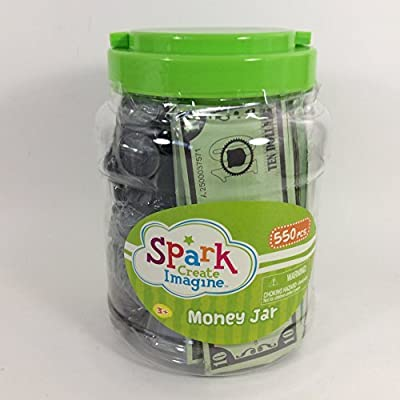 Spark Create Imagine Money Jar over 550pcs Toy Currency: Toys & Games